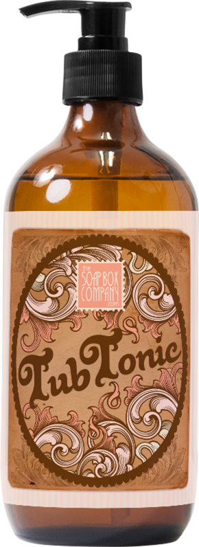 Soap Box Co. Tub Tonic Packaging Label Design