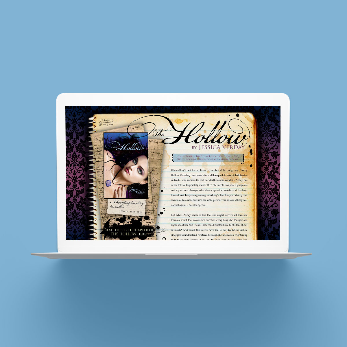 Jessica Verday Author Website Design