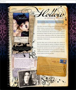 Jessica Verday, young adult author, website design