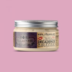 Villainess Soaps body scrub packaging design by Noisy Ghost Co.