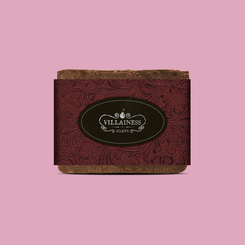 Villainess Soaps soap packaging design by Noisy Ghost Co.