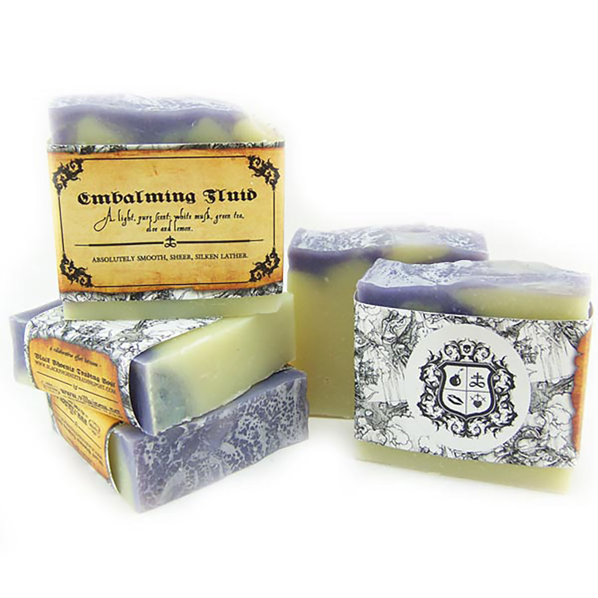 Black Phoenix Trading Post and Villainess Soaps Collaboration - Embalming Fluid Soap