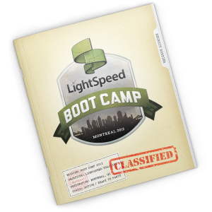 Graphic design for Lightspeed Retail's Reseller Boot Camp by Noisy Ghost Co.