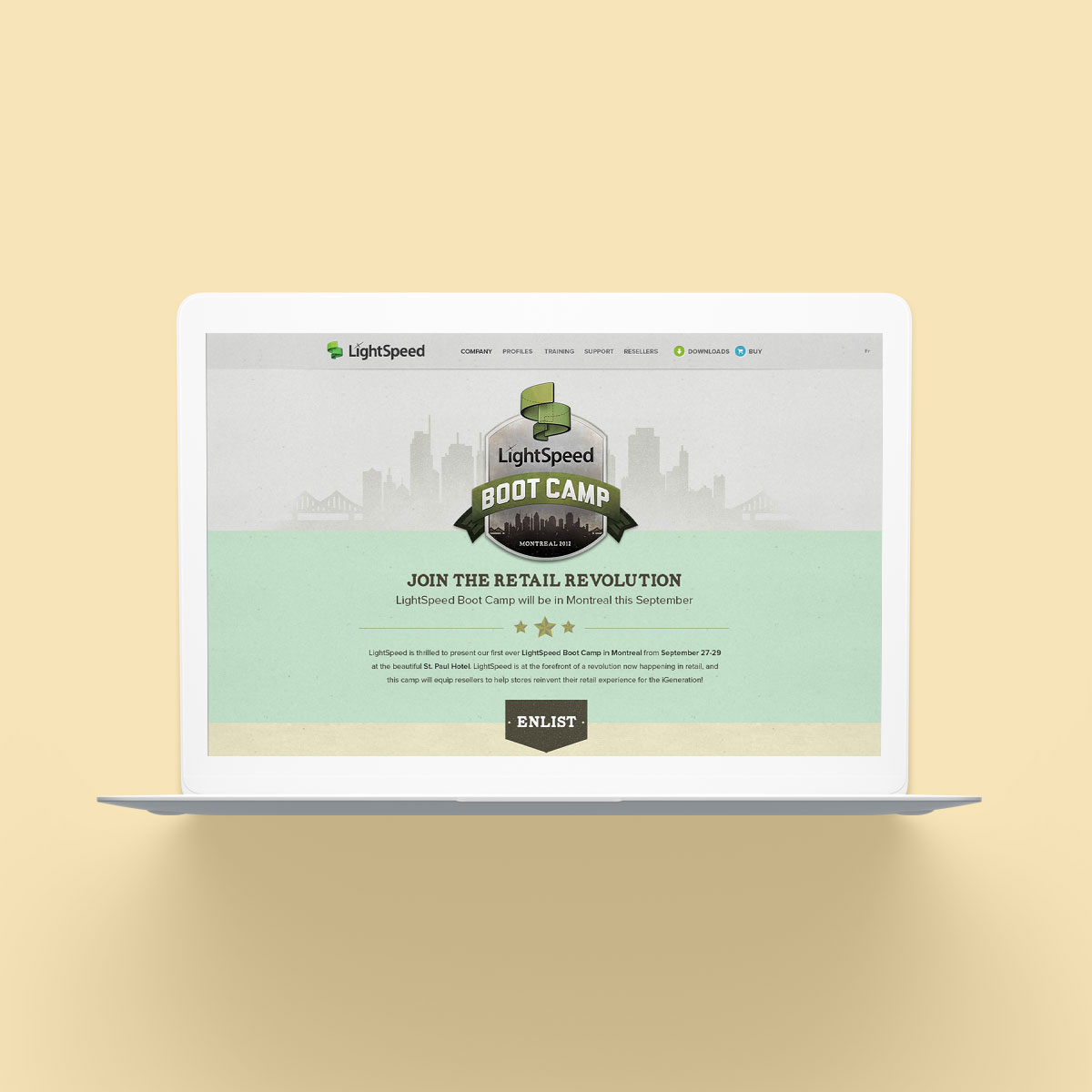 Lightspeed Boot Camp Website Design