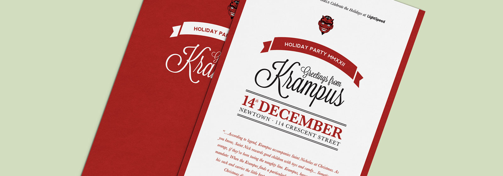 Krampus Holiday Party Invitation Design