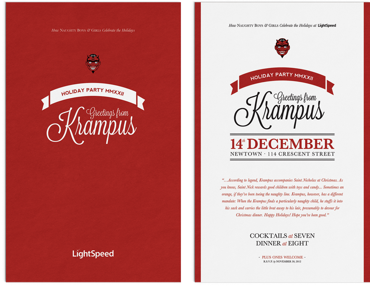 Krampus Holiday Party Invitation by Noisy Ghost Co.