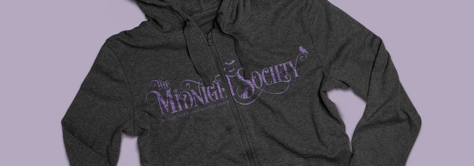 The Midnight Society logotype and identity design by Noisy Ghost Co.