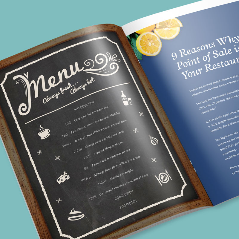 Lightspeed Restaurant POS Whitepaper Design by Noisy Ghost Co.