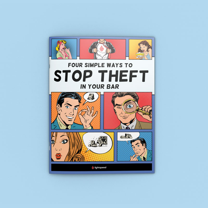 "Graphic design for Lightspeed's ""Stop Theft"" whitepaper by Noisy Ghost Co."