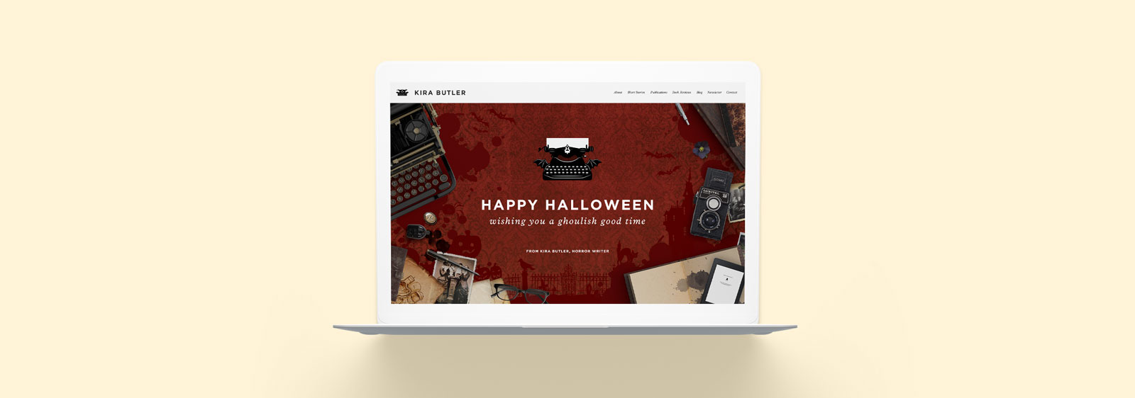 Halloween Website designed by Noisy Ghost Co.