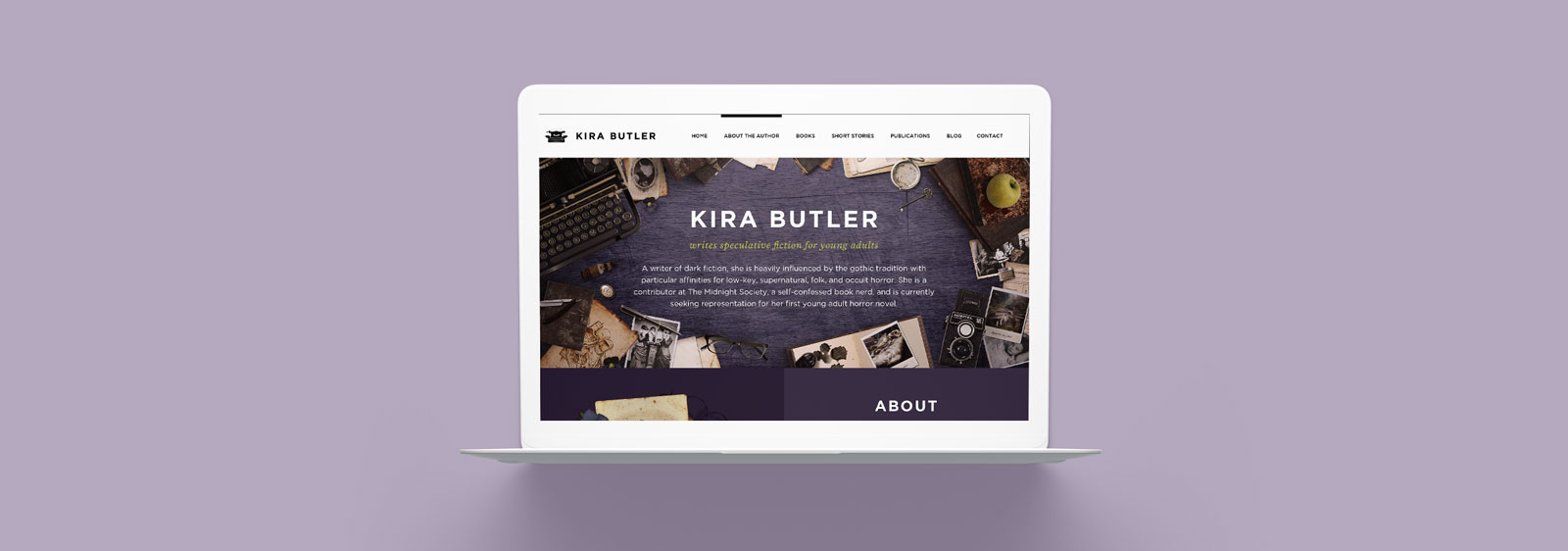 KiraButler.com website designed by Noisy Ghost Co.