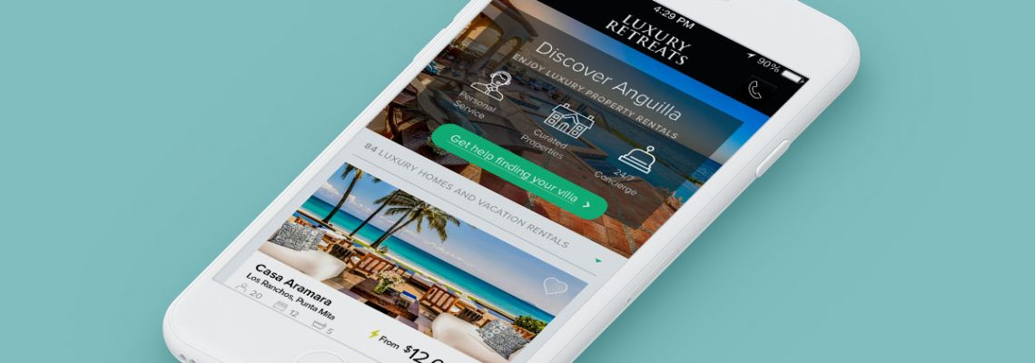 Luxury Retreats Mobile Product Category Page UX Design