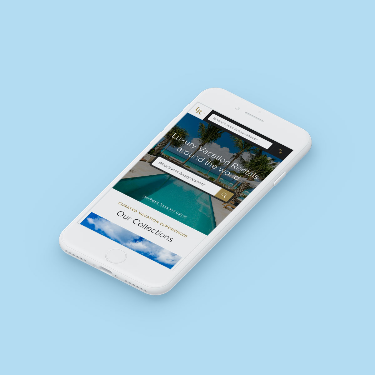 Luxury Retreats W3 Mobile Website Design