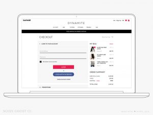 Dynamite eCommerce Checkout Login
