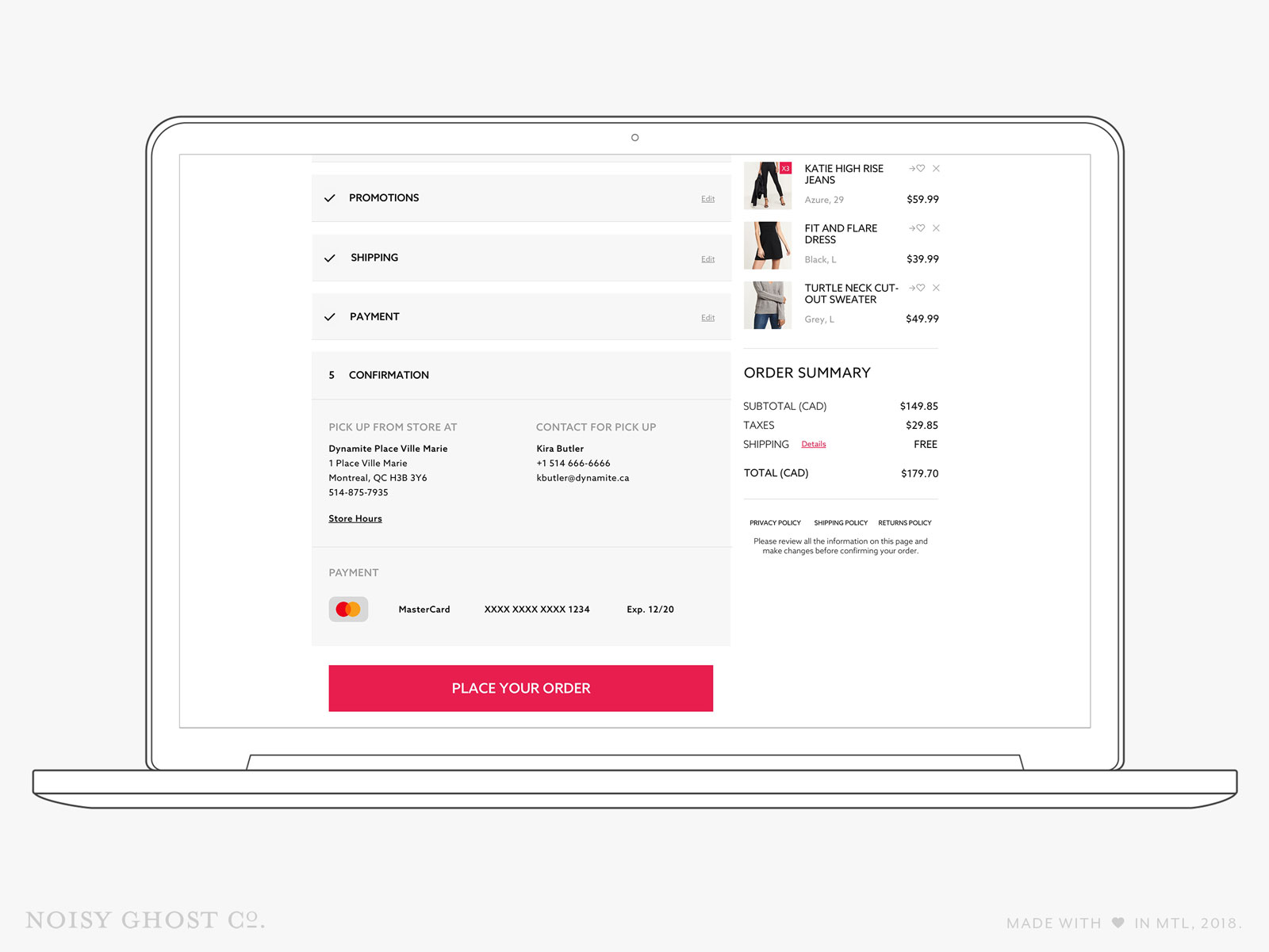 Dynamite eCommerce Checkout - Confirmation
