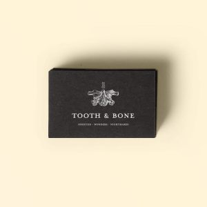 Tooth & Bone identity design by Noisy Ghost Co.