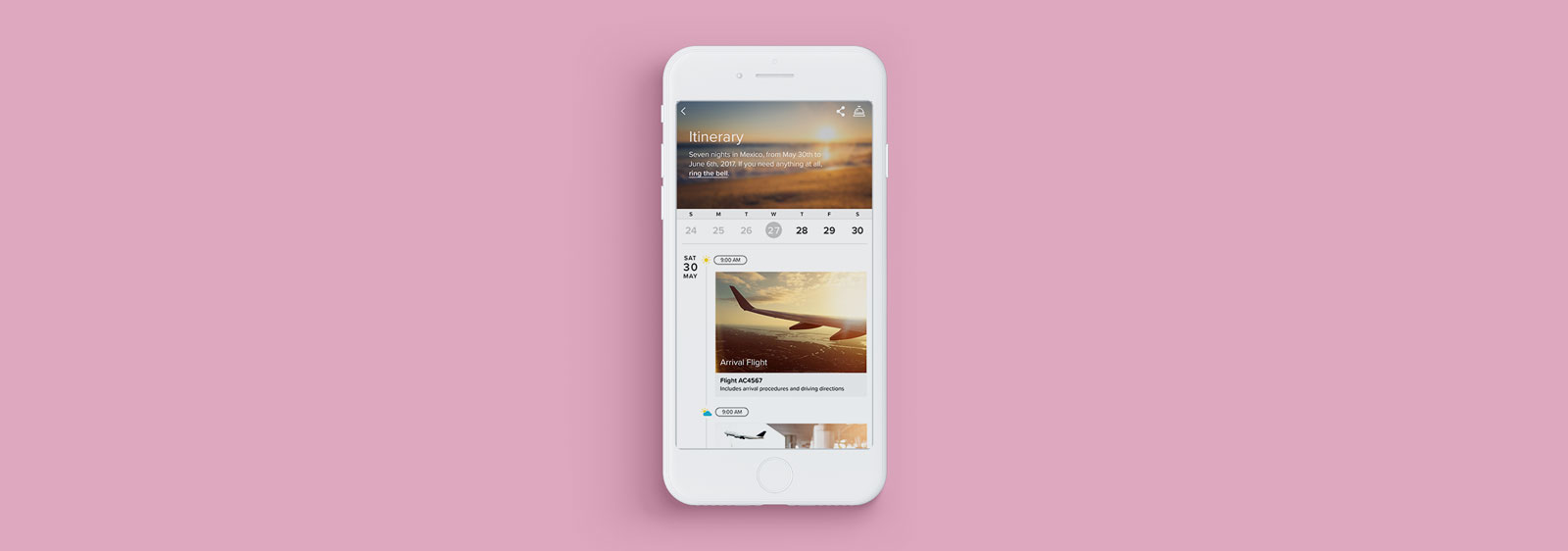 Luxury Retreats Travel Itinerary UX Design by Noisy Ghost Co.