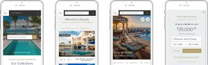 Luxury Retreats W3 Mobile website design by Noisy Ghost Co.
