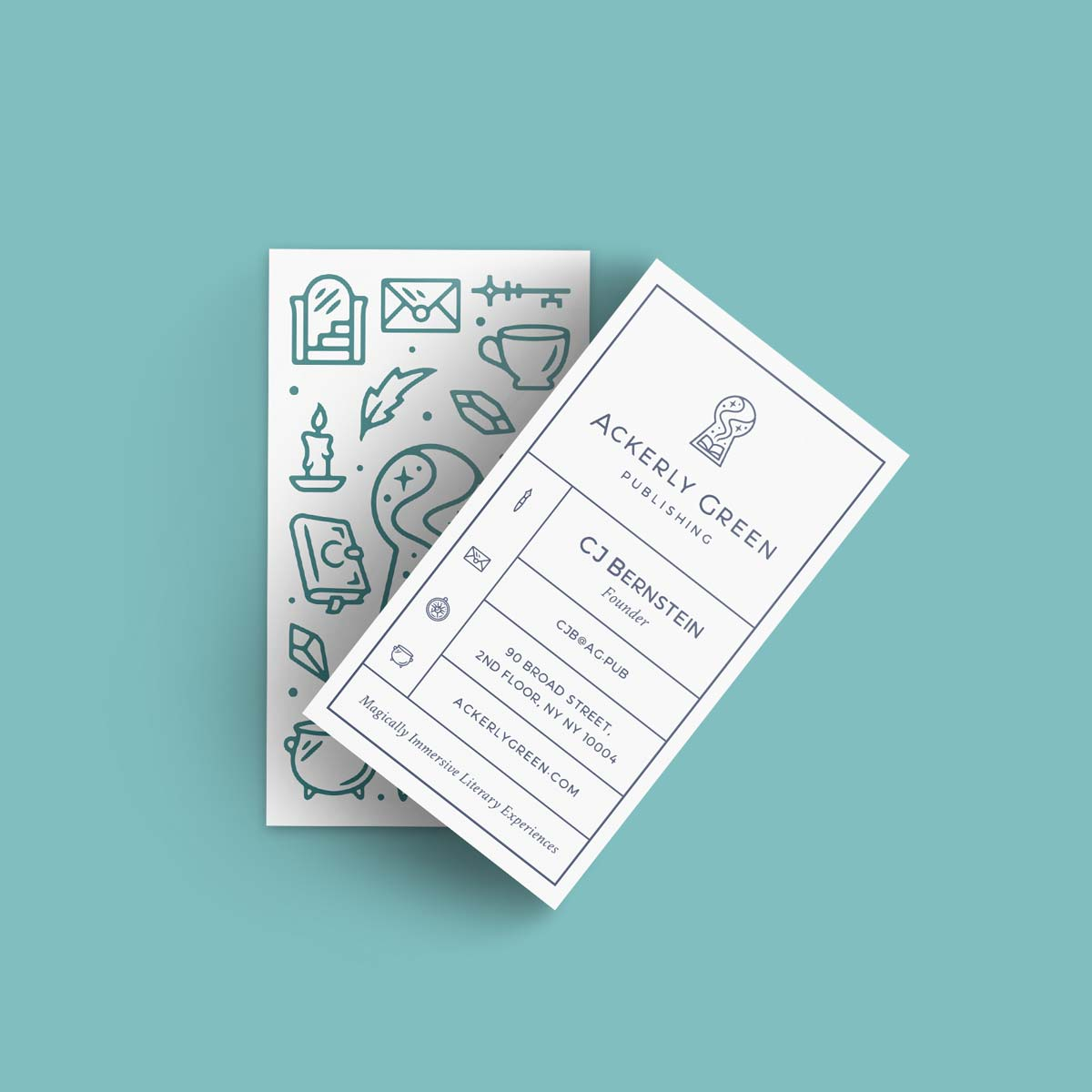 Graphic Design for Ackerly Green Publishing: Business Card