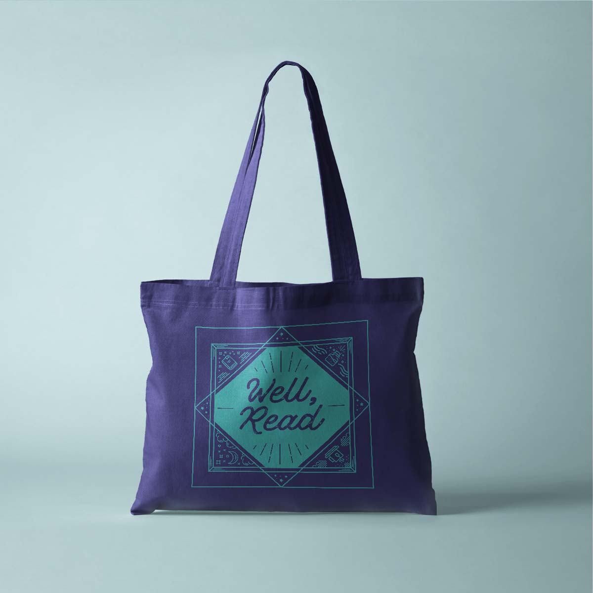 Graphic Design for Ackerly Green Publishing: Well, read Tote Bag